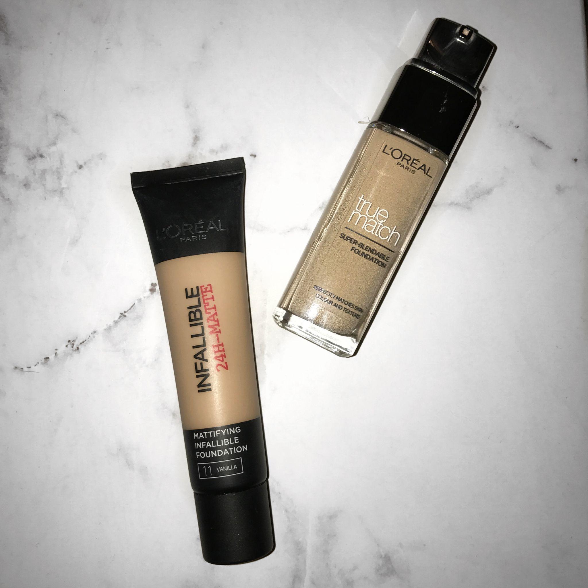 Foundation: L'Oréal Matte Infallible v L'Oreal True Match - Live Lavishly
