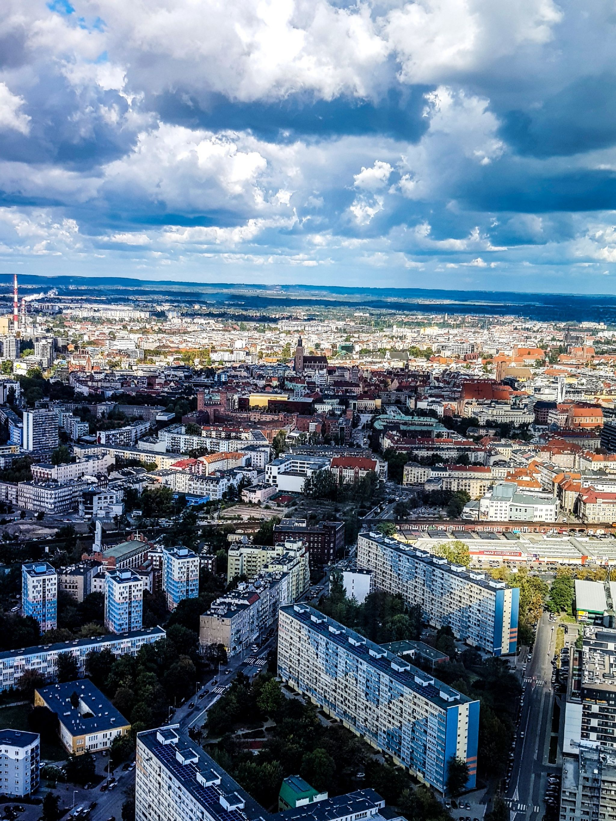 Wroclaw, poland, sky tower, aerial view, city centre Wroclaw