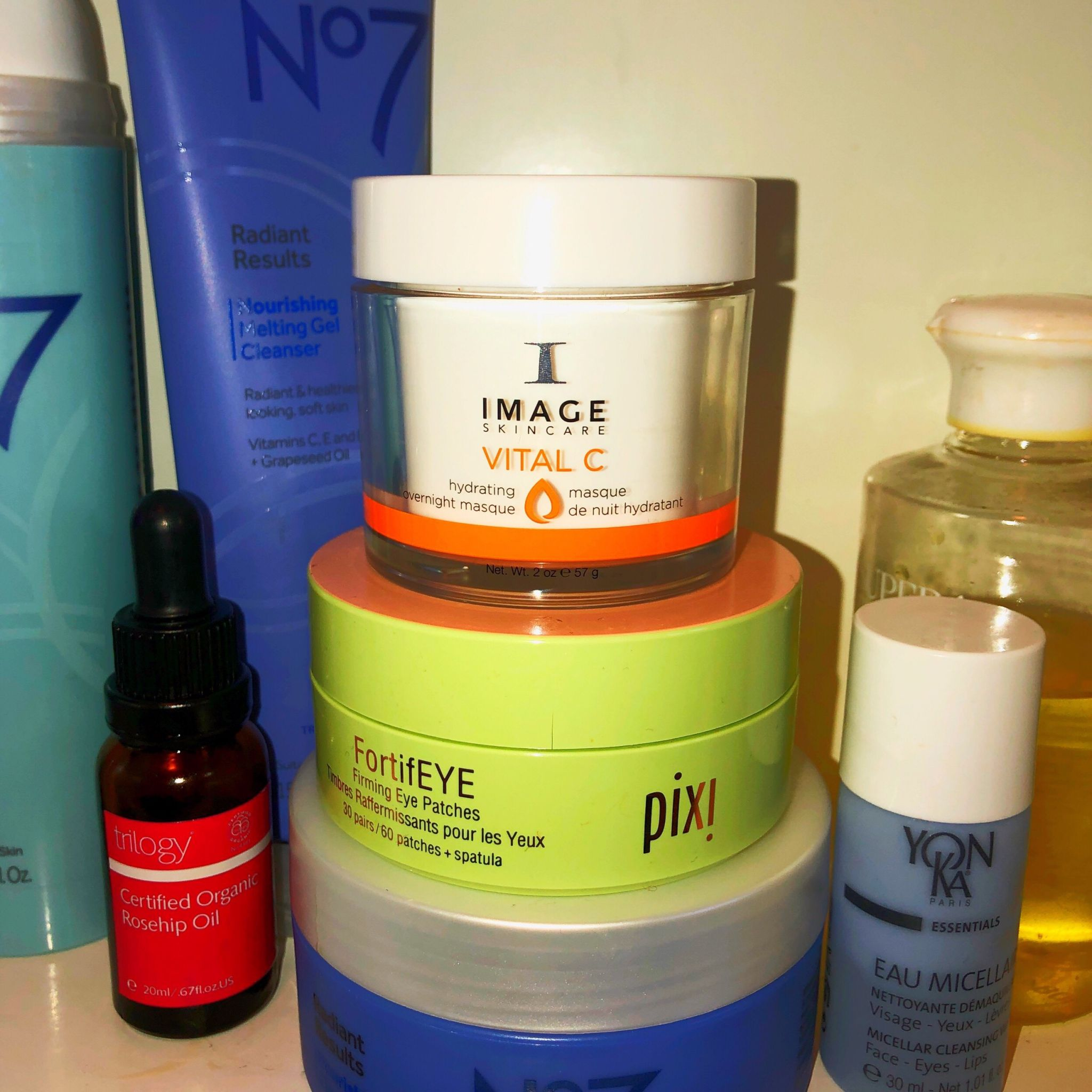 live lavishly, image skincare, moisturiser, hydration essential, vital C, trilogy rosehip oil, pix, yonka